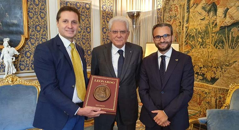 Consegna della collana sui grandi artisti rinascimentali al presidente Mattarella