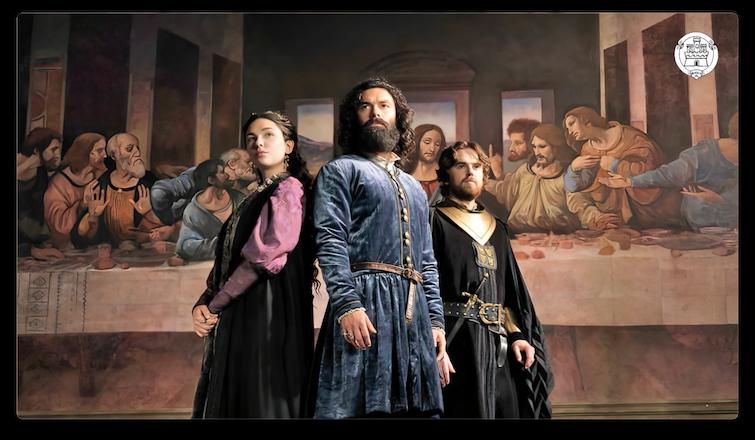 "Bottega Tifernate realizza i dipinti della fiction ""Leonardo"""