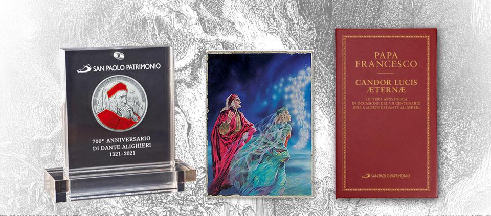 Medaglia 700° Dante Alighieri – Con formella e libro allegato