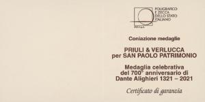 Medaglia 700° Dante Alighieri - Con libro allegato 4